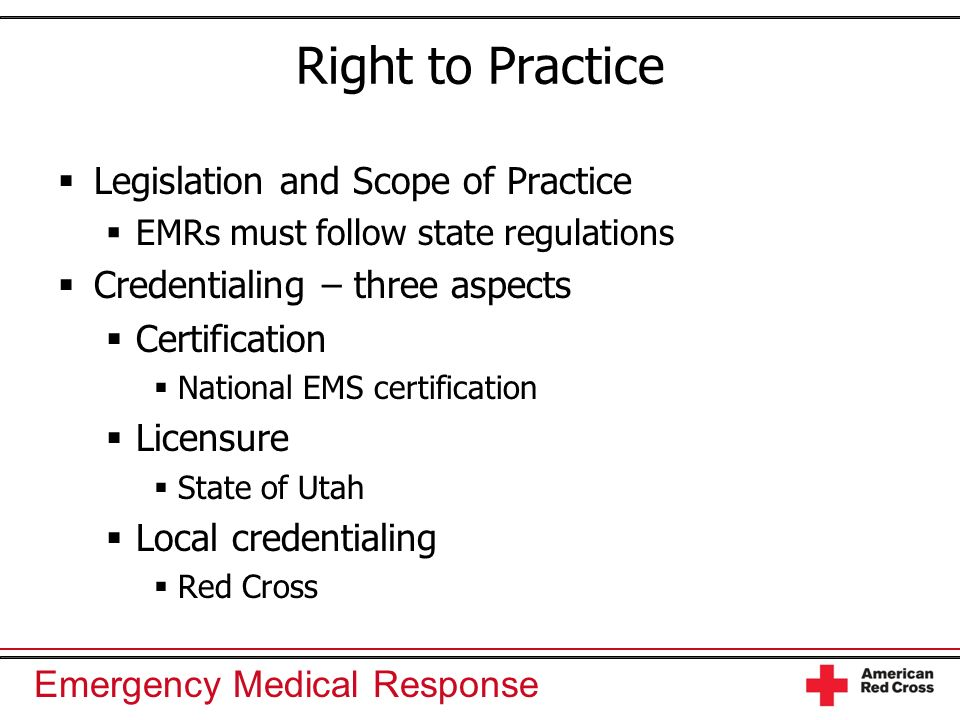 Right to Practice Legislation and Scope of Practice