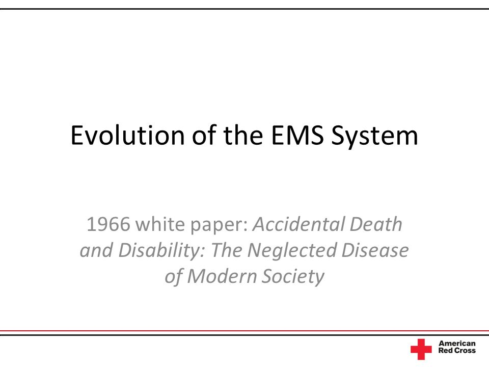 Evolution of the EMS System