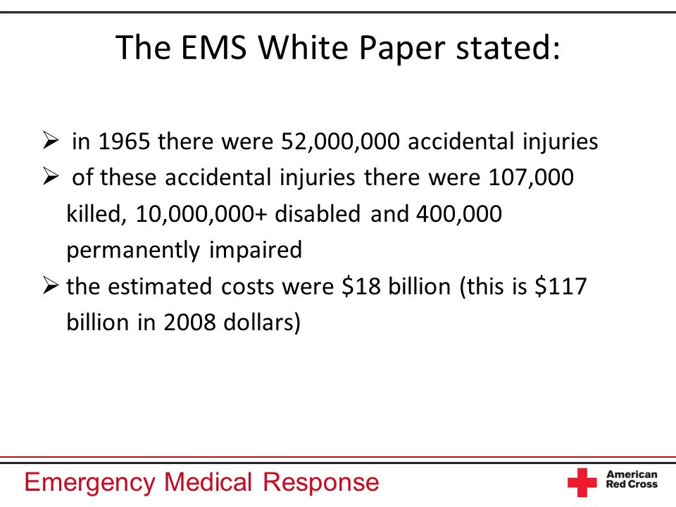 The EMS White Paper stated: