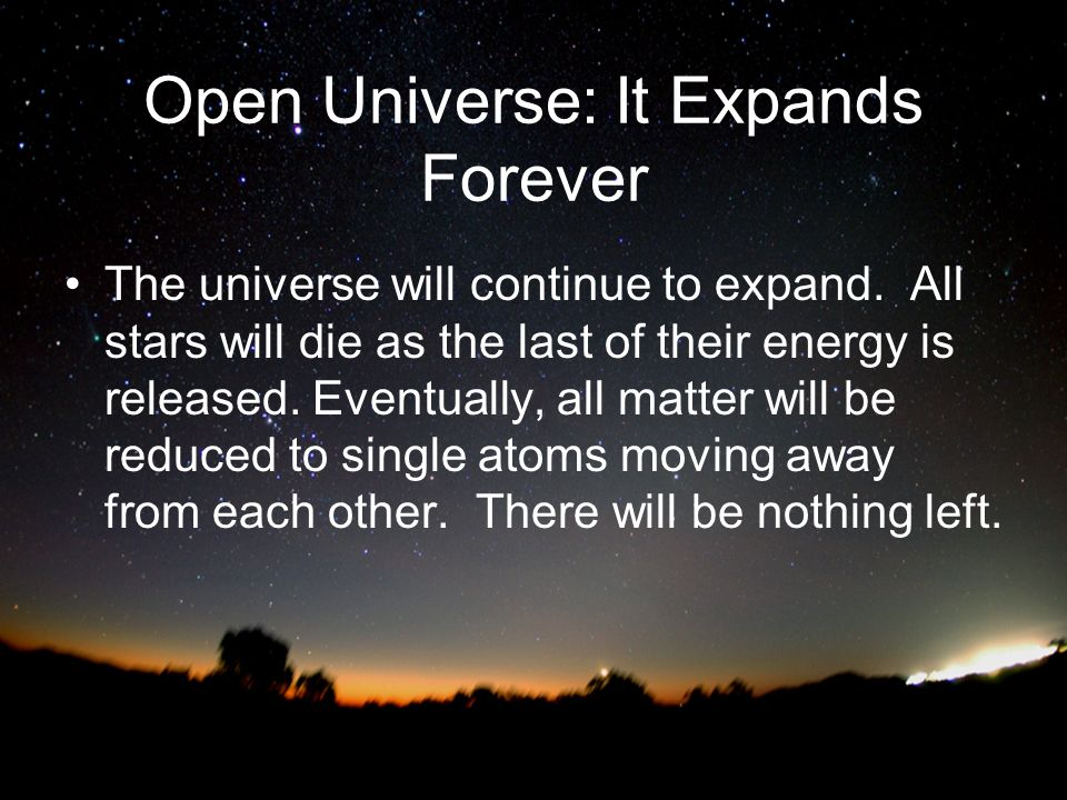 Open Universe: It Expands Forever