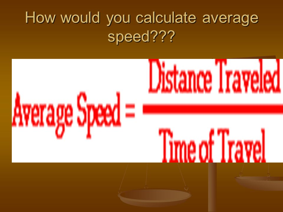 How would you calculate average speed