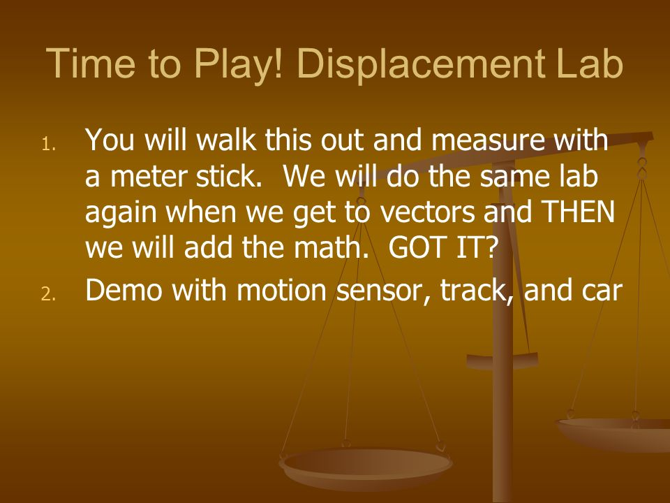 Time to Play! Displacement Lab
