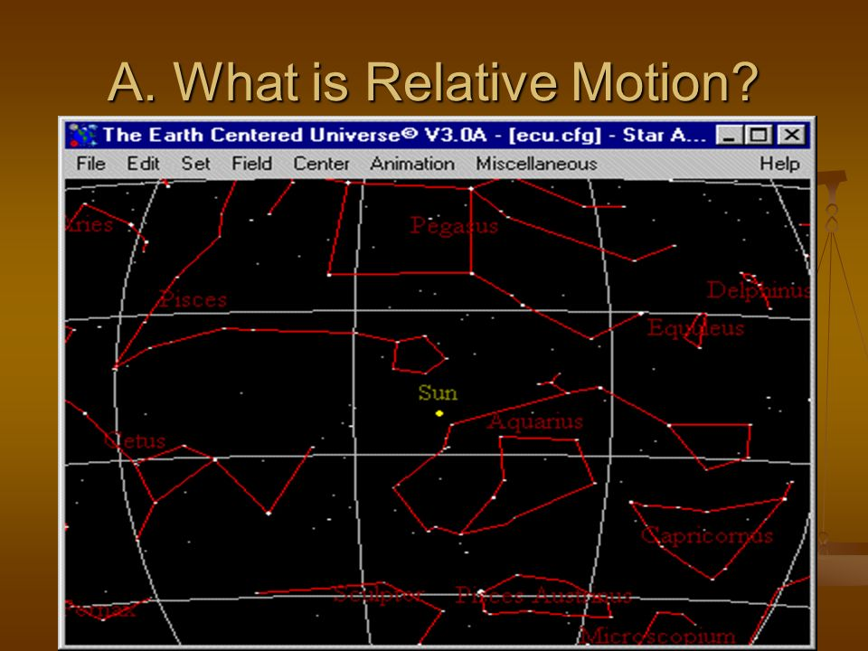 A. What is Relative Motion