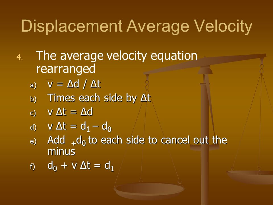 Displacement Average Velocity