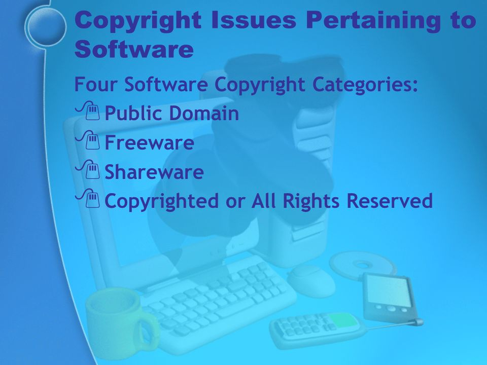 Copyright Issues Pertaining to Software