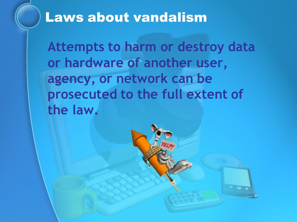 Laws about vandalism