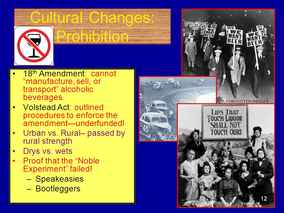 Cultural Changes: Prohibition