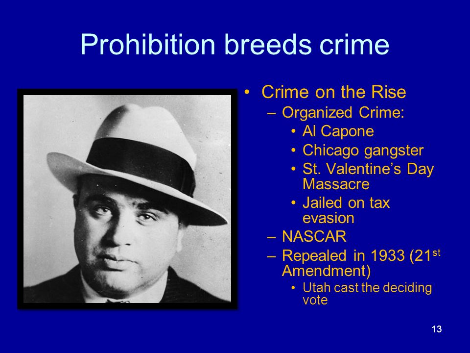 Prohibition breeds crime