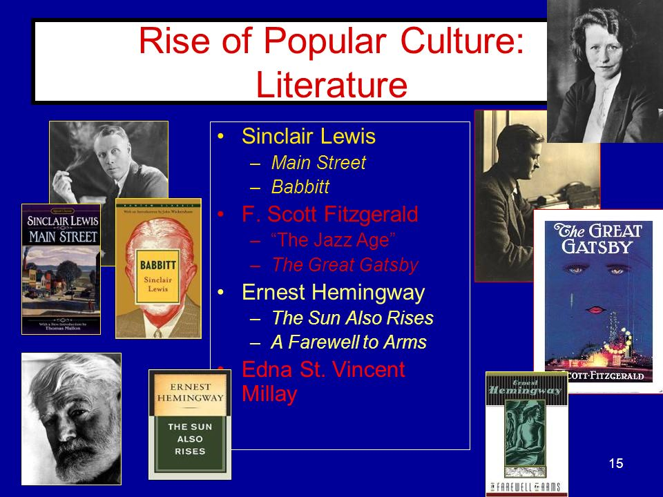 Rise of Popular Culture: Literature