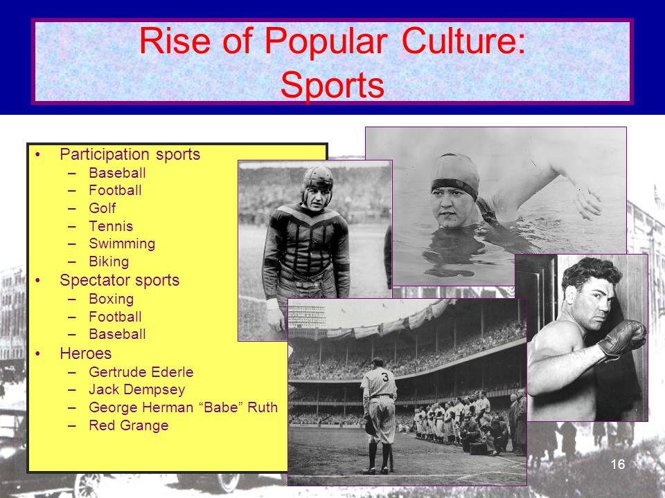 Rise of Popular Culture: Sports
