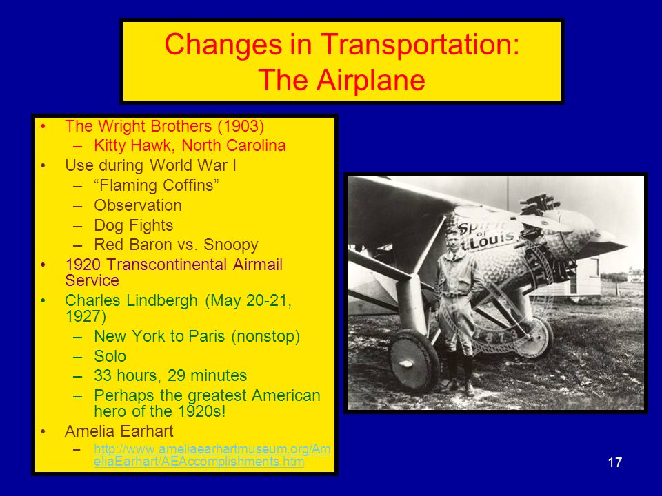 Changes in Transportation: The Airplane