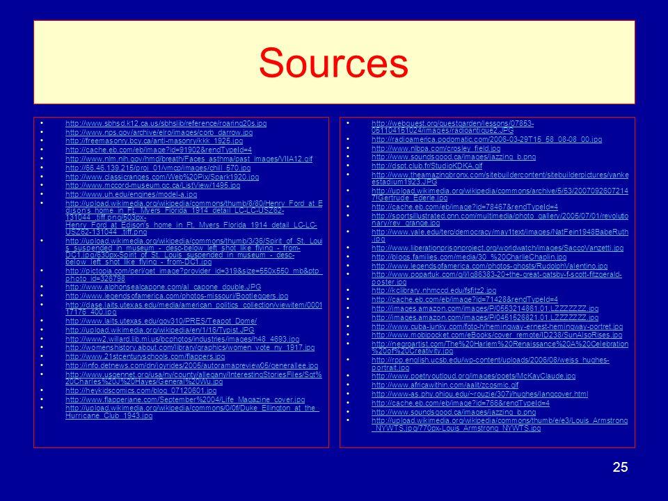 Sources http://www.sbhsd.k12.ca.us/sbhslib/reference/roaring20s.jpg