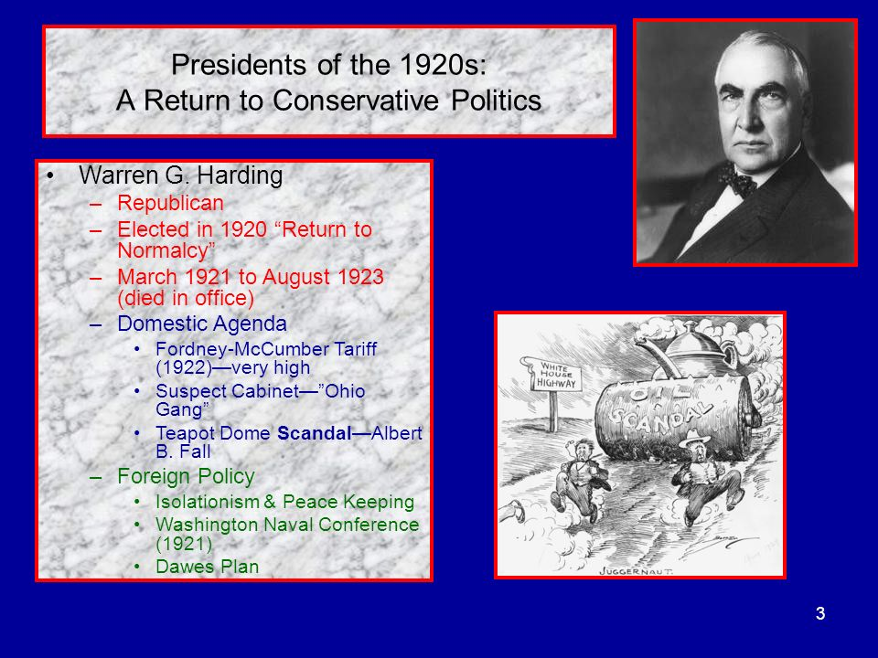 Presidents of the 1920s: A Return to Conservative Politics