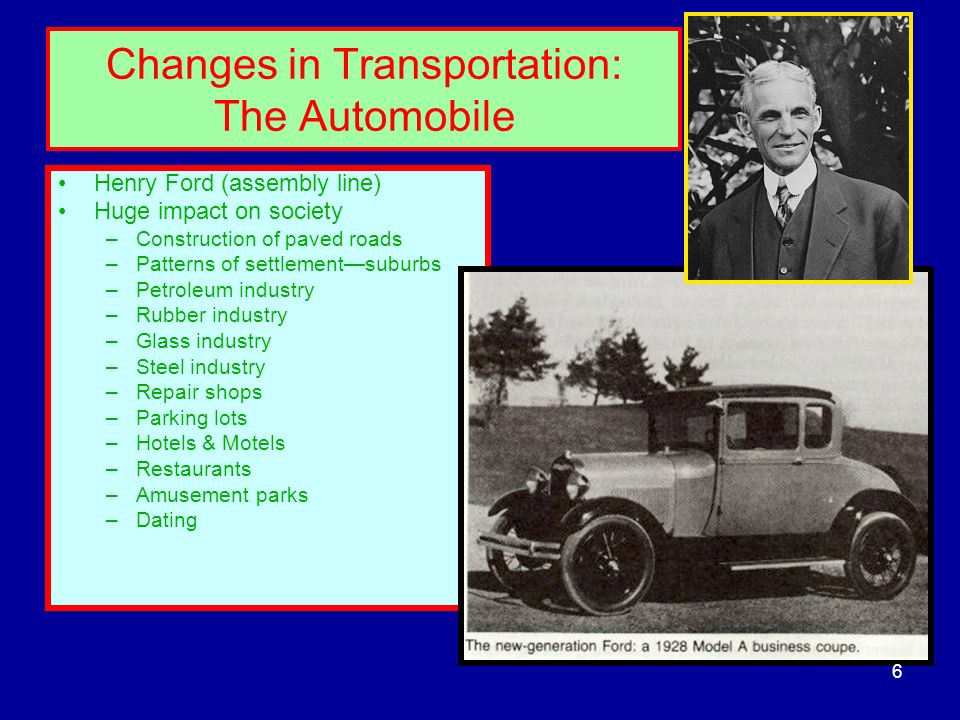 Changes in Transportation: The Automobile