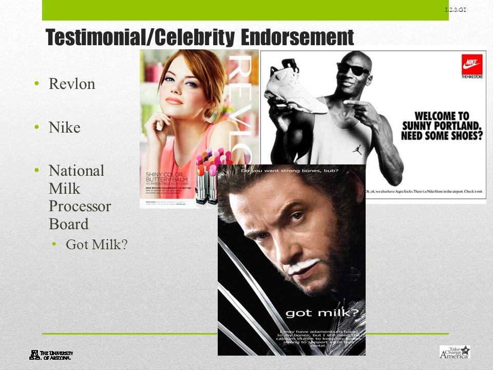 Testimonial/Celebrity Endorsement