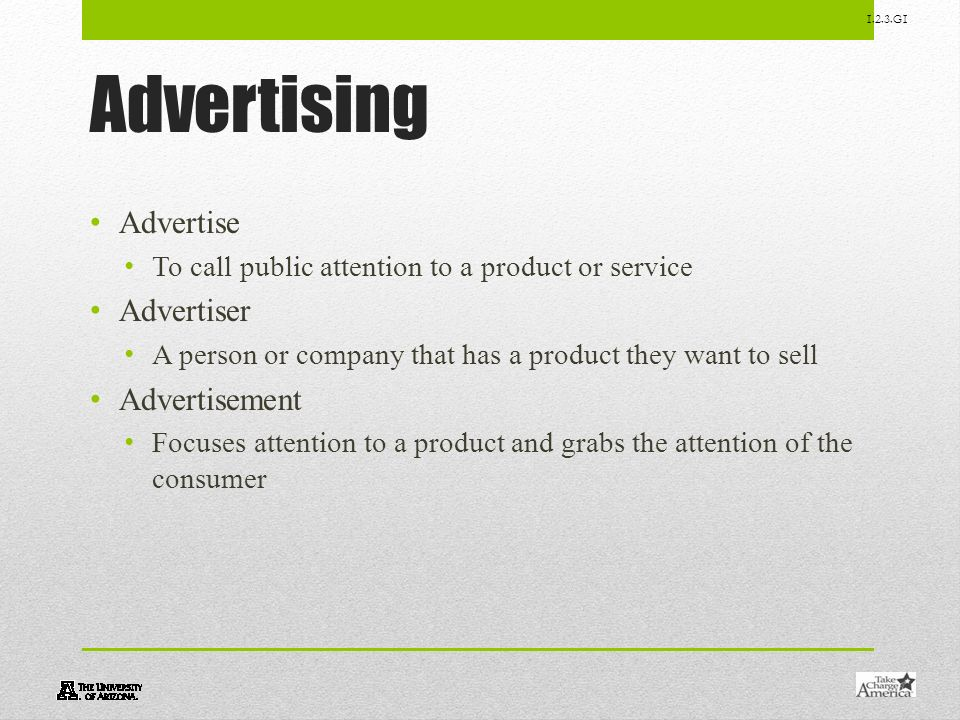 Advertising Advertise Advertiser Advertisement