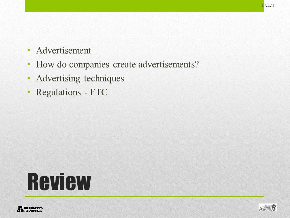 Review Advertisement How do companies create advertisements