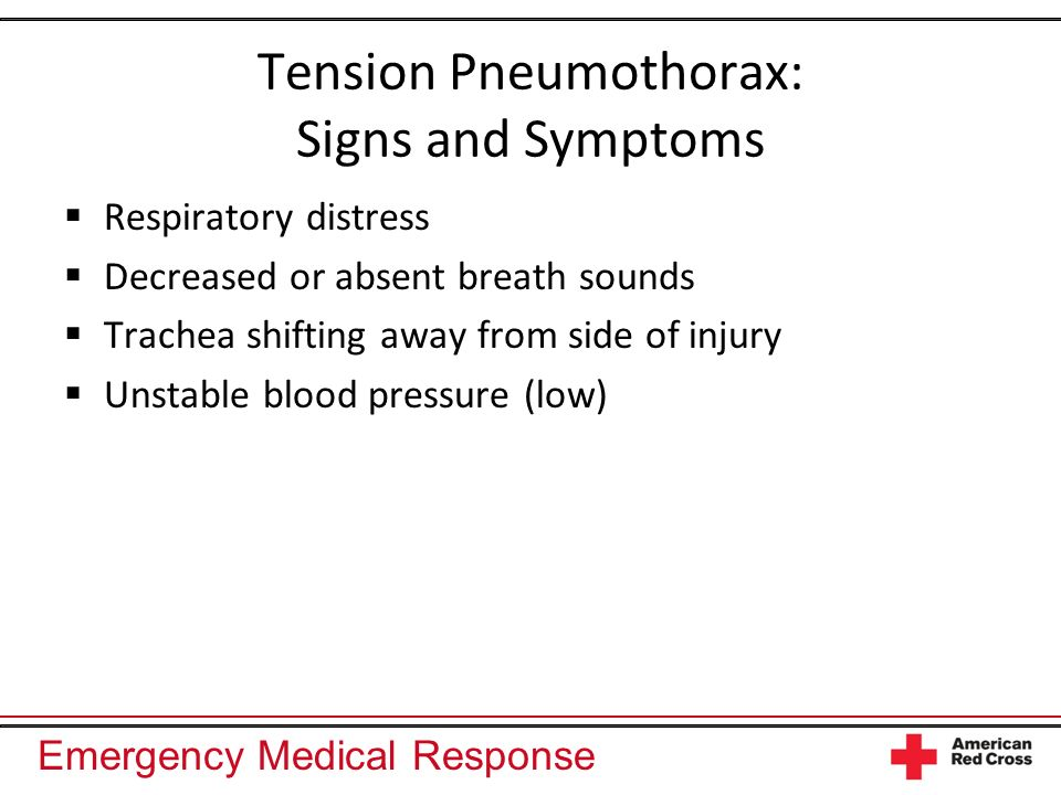 Tension Pneumothorax: Signs and Symptoms