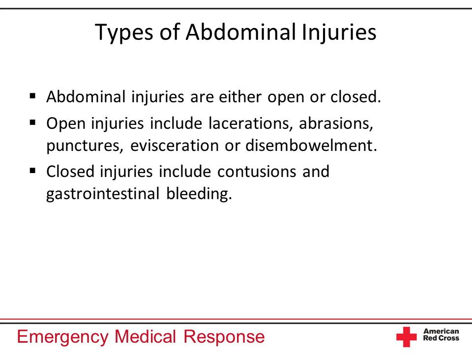 Types of Abdominal Injuries