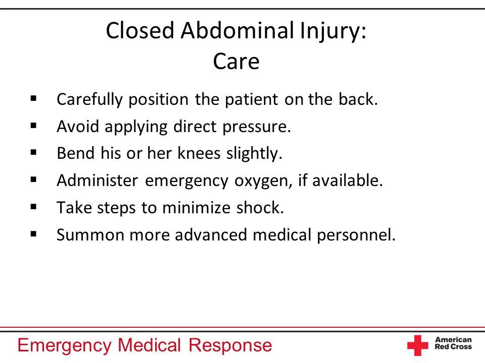 Closed Abdominal Injury: Care