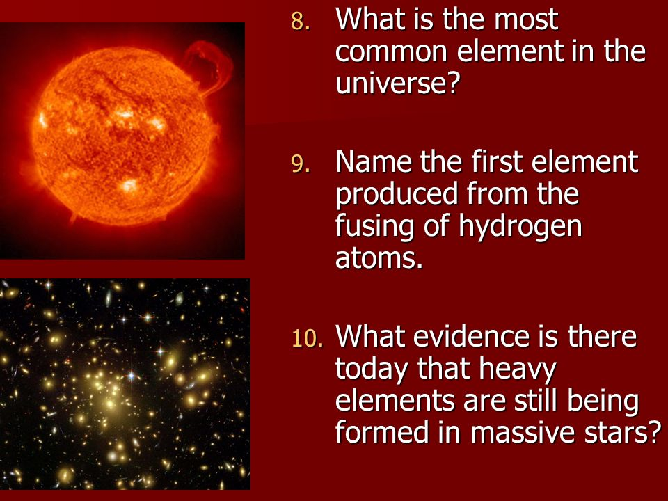 What is the most common element in the universe