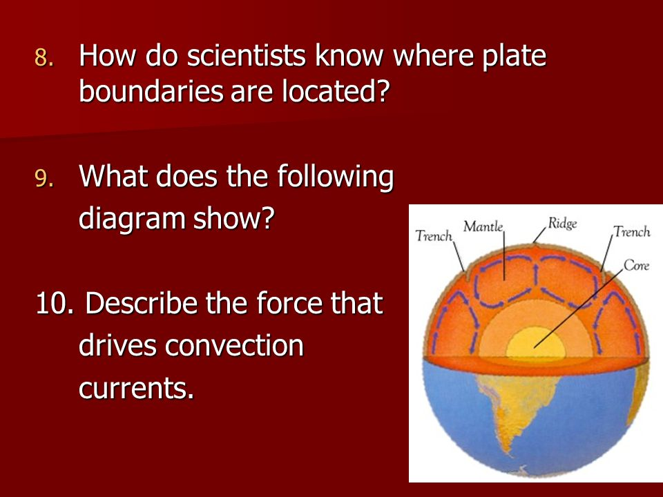 How do scientists know where plate boundaries are located