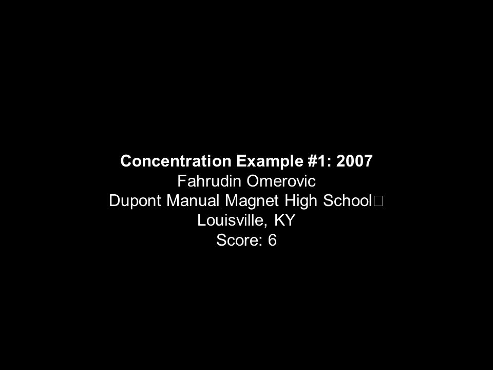 Concentration Example #1: 2007