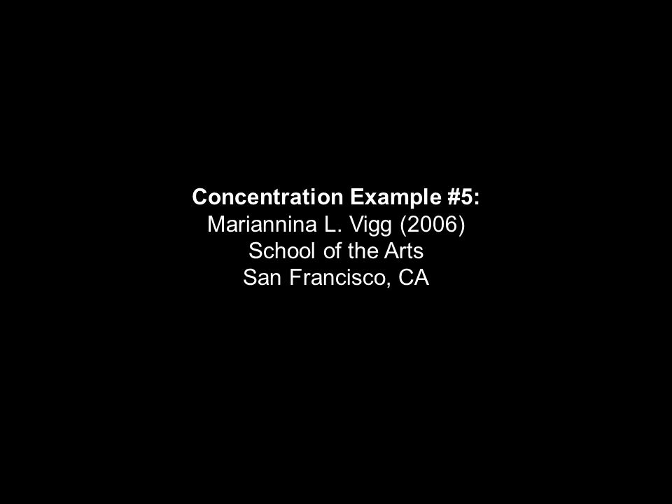 Concentration Example #5: