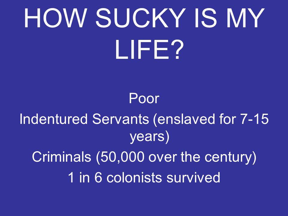 HOW SUCKY IS MY LIFE Poor