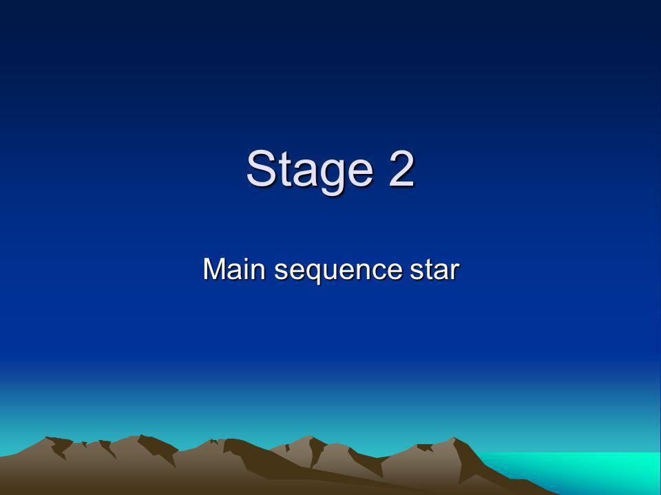 Stage 2 Main sequence star
