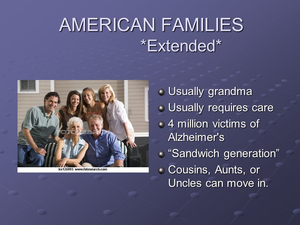 AMERICAN FAMILIES *Extended*