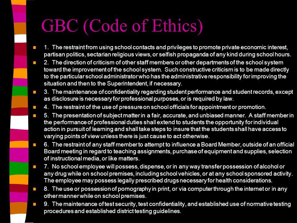 GBC (Code of Ethics)