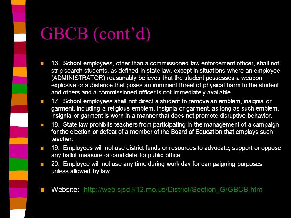 GBCB (cont'd)