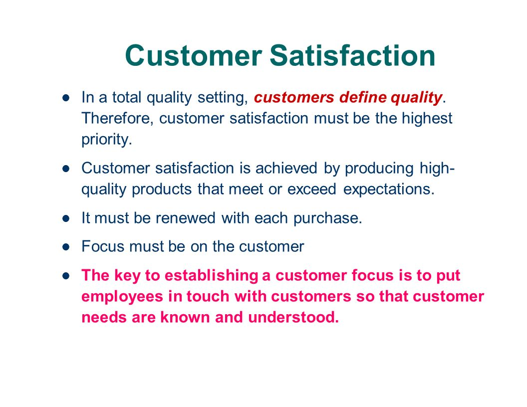 customer satisfaction meaning and definition