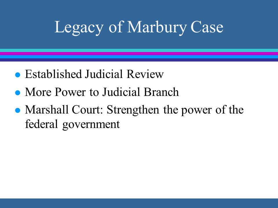 Legacy of Marbury Case Established Judicial Review