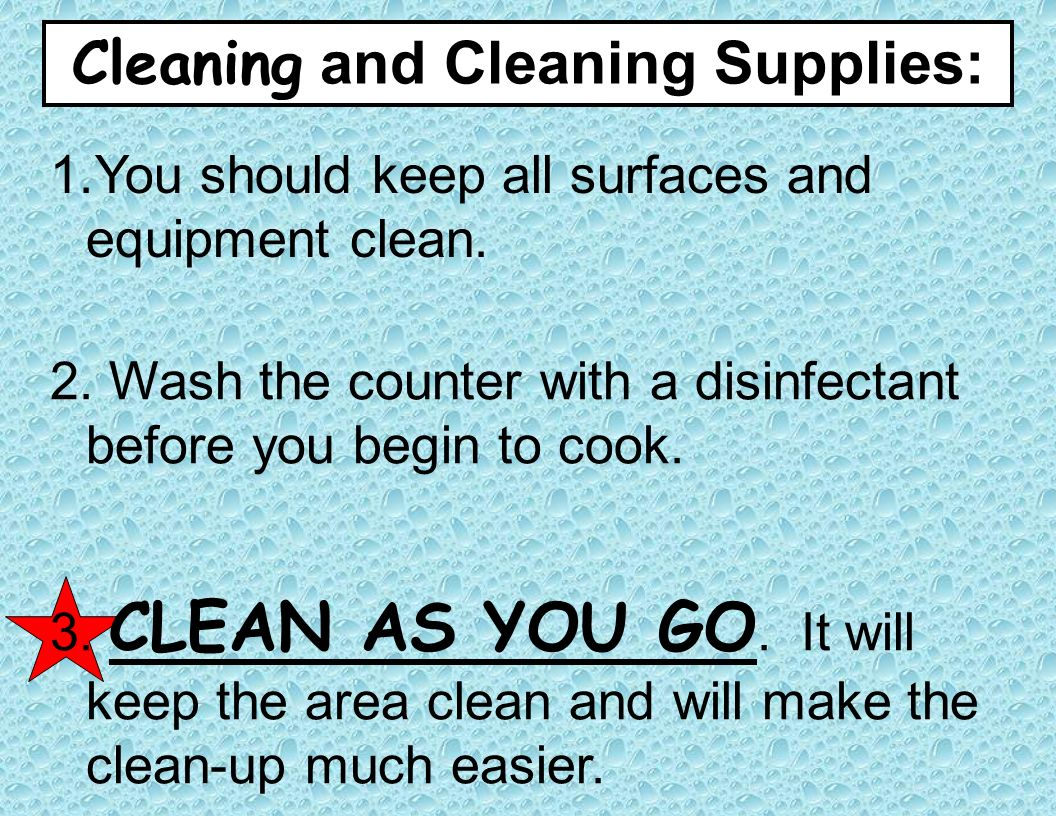 Cleaning and Cleaning Supplies: