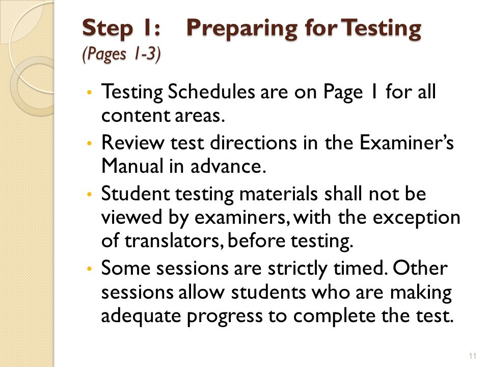 Step 1: Preparing for Testing (Pages 1-3)