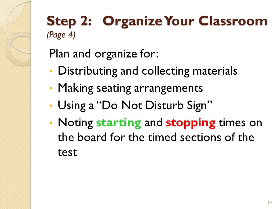 Step 2: Organize Your Classroom (Page 4)