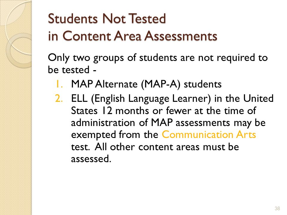 Students Not Tested in Content Area Assessments