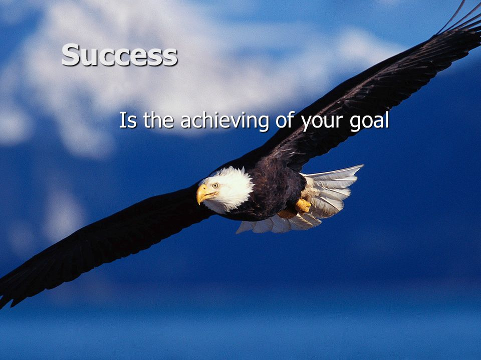 Is the achieving of your goal