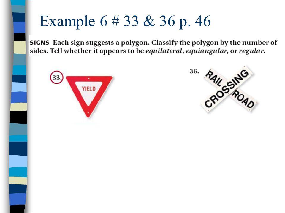 Example 6 # 33 & 36 p. 46