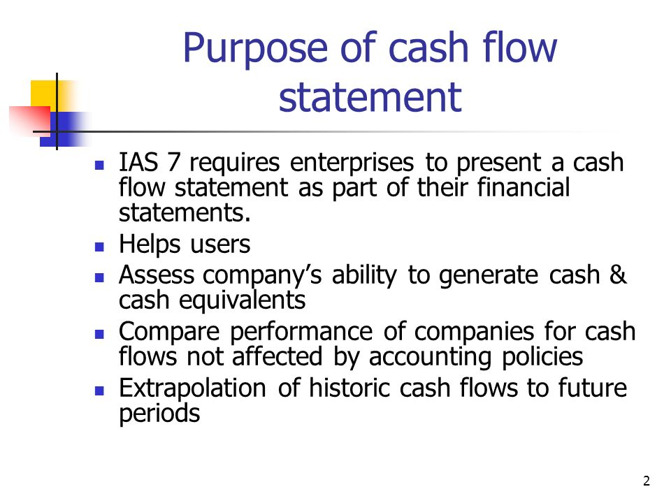 importance of cash flow statement Cash basis funds flow statement is important for a number of reasons: (1) first, by focusing on cash flows, it explains the nature of the financial events which have affected the cash positions this statement explains the reasons for the difference between opening and closing cash balance.