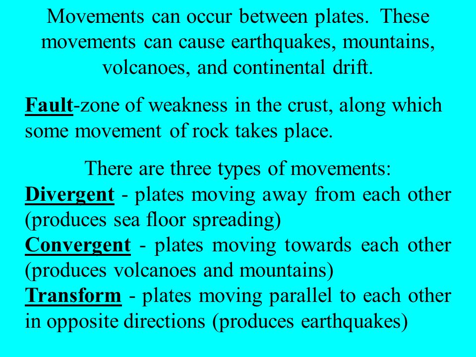 There are three types of movements: