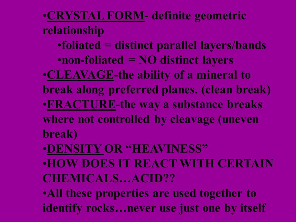 CRYSTAL FORM- definite geometric relationship