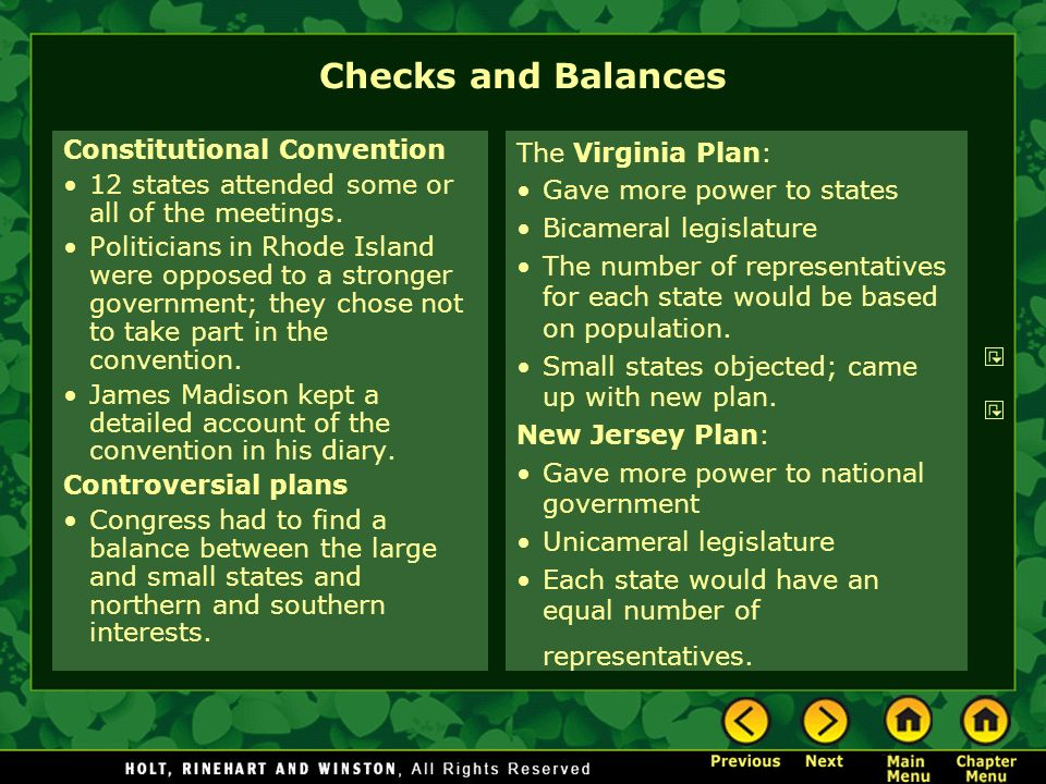 Checks and Balances Constitutional Convention
