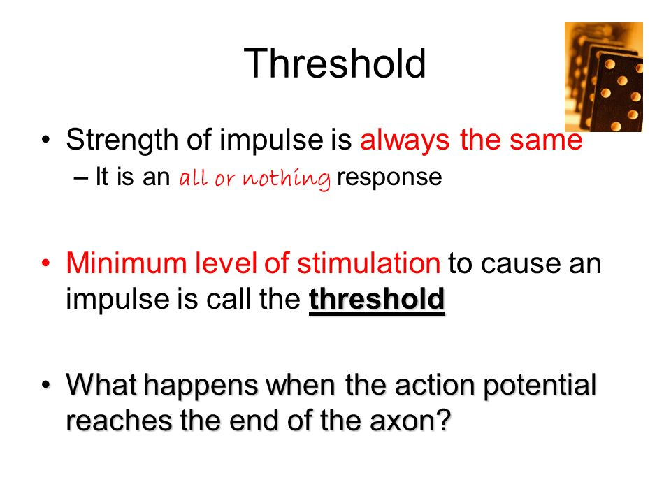 Threshold Strength of impulse is always the same