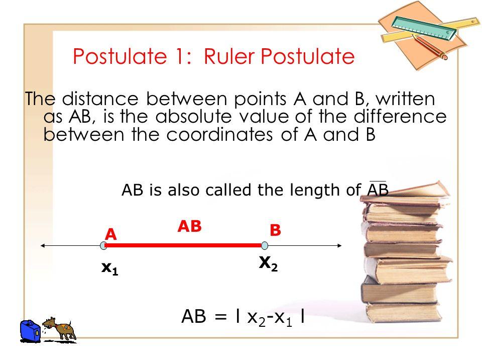 Postulate 1: Ruler Postulate