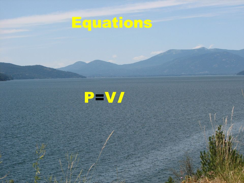 Equations P=VI