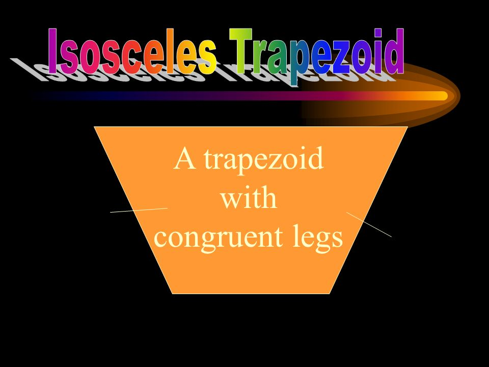 A trapezoid with congruent legs