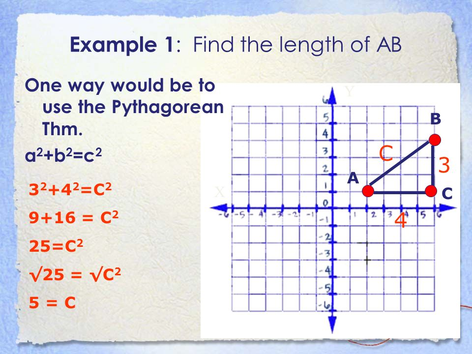 Example 1: Find the length of AB
